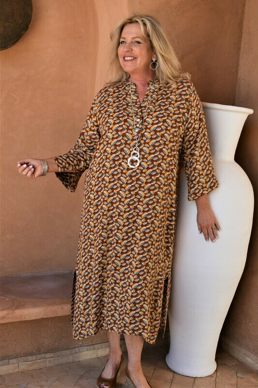 KASBAH Raissa - Bright print long Tunic/Dress