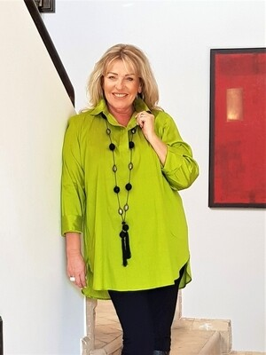 KASBAH Travia - Silk Classic Collar Tunic