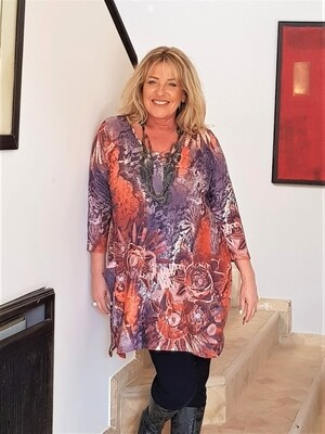 Kasbah Torie - Abstract print Jersey Tunic/Top