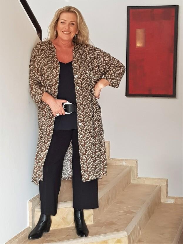 KASBAH Jenina -Wide cut printed tunic/jacket