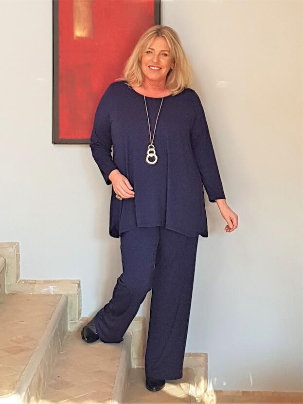 Kasbah Paige - Dark Navy Jersey Trousers