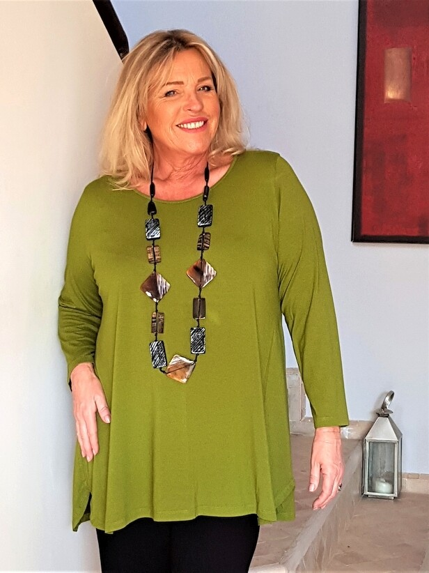 Kasbah Tess - Long sleeve jersey top - Olive