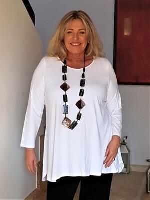 Kasbah Tess - Long sleeve jersey top - White