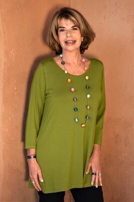 KASBAH Tessina 2 - Olive Jersey Top