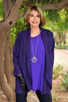 Kasbah Jessie  - Purple Shawl Neck Jacket