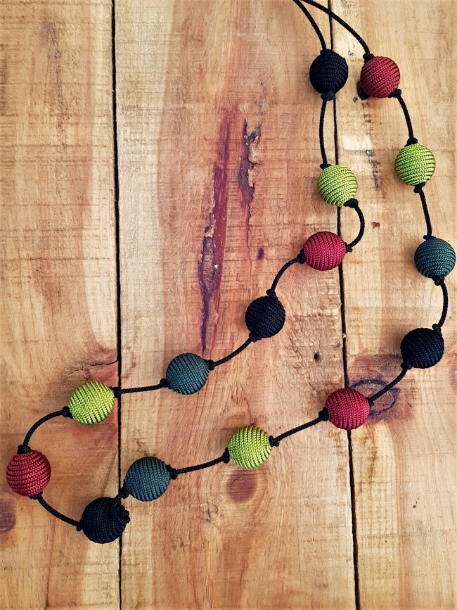 Kasbah Nila Rust/Olive - Necklace