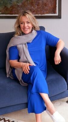 KASBAH Palaya - Cobalt Jersey Crop Trousers
