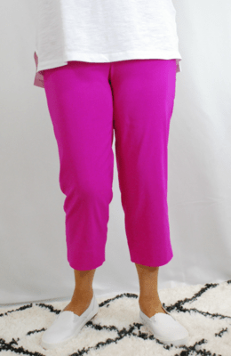 Robell Marie - Crop Trousers Magenta