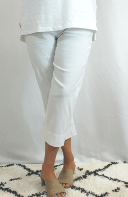 Robell Marie - Crop Trousers white