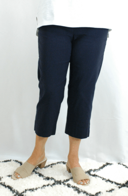 Robell Marie - Crop Trousers navy