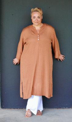 Kasbah Raissa 2 - Red Starbust Print Long Tunic/Dress
