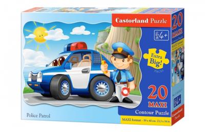Пазл Castorland Maxi Полицейский патруль 20 деталей C-02252