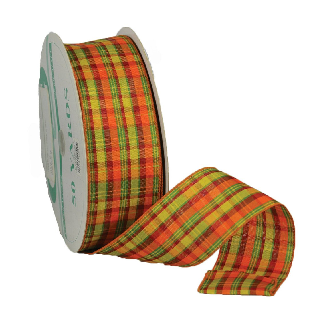 ​CIDER40 - #40 Wired cider plaid ribbon