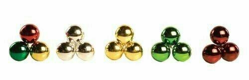 PLX3050GOLD - 50mm Plastic Ball Pick x 3