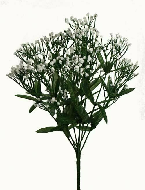 SBX2023 - Wrapped Stem White GYP bush x14