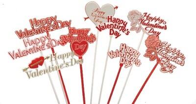 4007 -  Assorted Valentine pick siper pack (DZ) $4.95 dz Case Pk: 24 DZ Min: 6 DZ