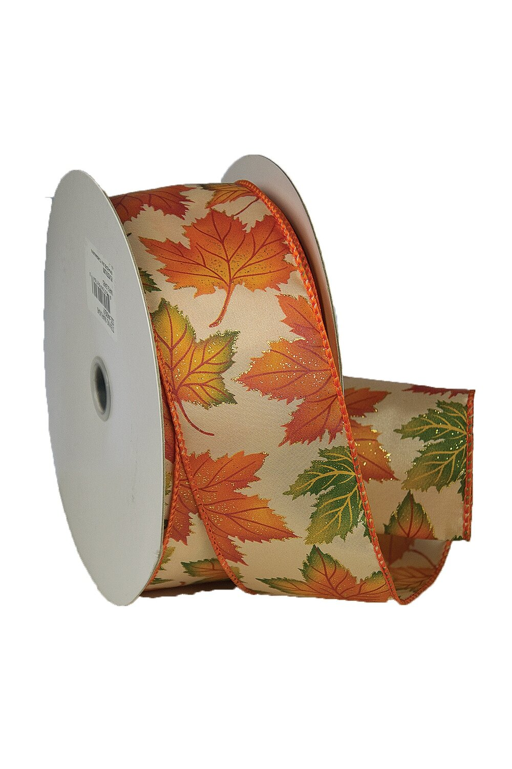 MAPLF40 - #40 wired sparkle maple leaf ribbon