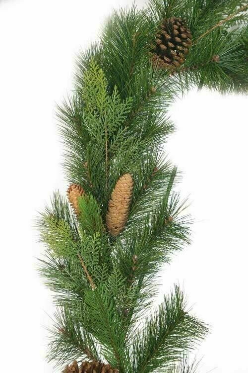 PMX7031 - 6' Mixed Pine/Cedar/Pine/Cone Garland