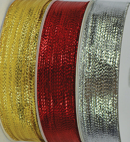 SHIM9GOLD - #9 Wired Shimmer Ribbon (Gold Only)
