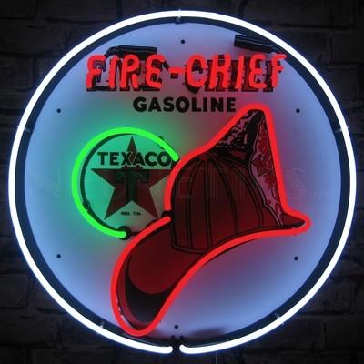 Texaco Fire Chief Gasoline Neon Sign