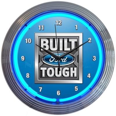 Ford Trucks Built Tough Neon Clock