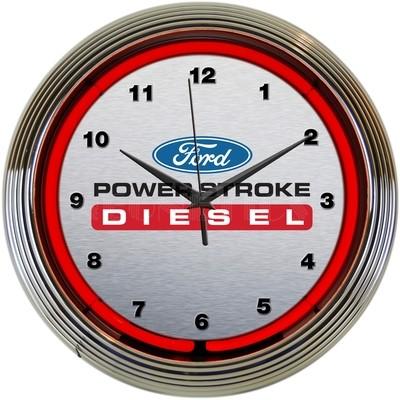 Ford Powerstroke Diesel Neon Clock