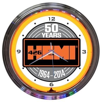 Mopar Hemi 50th Anniversary Neon Clock