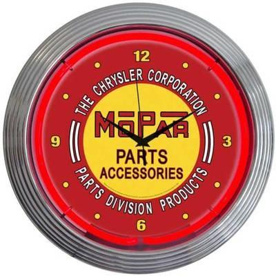 Mopar Parts Accessories Neon Clock