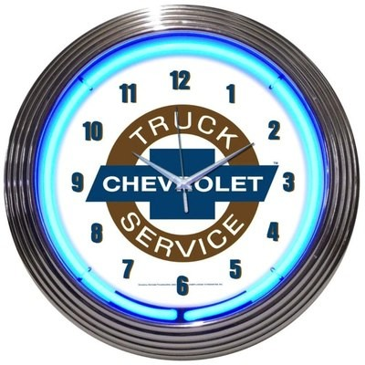 Chevrolet Chevy Truck Service Neon Clock