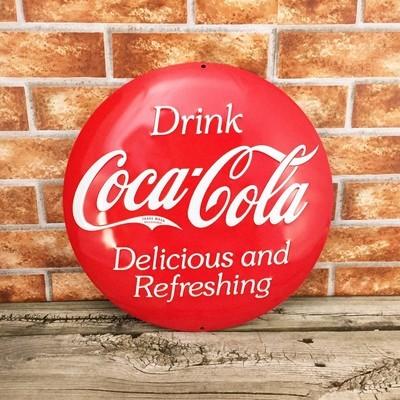 Coca-Cola Coke Round 3D Button