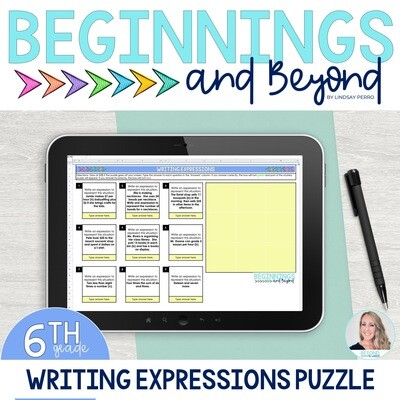 Writing Expressions Digital Puzzle