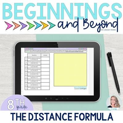The Distance Formula Digital Puzzle