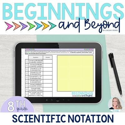 Scientific Notation Digital Puzzle