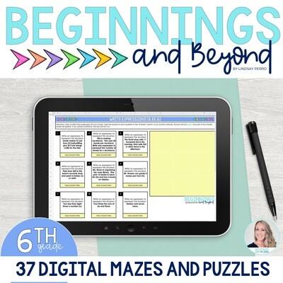 6th Grade Digital Maze and Puzzle Bundle