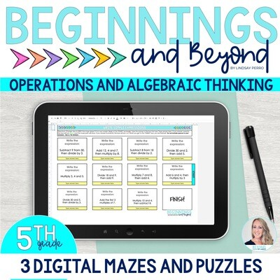 5th Grade Operations and Algebraic Thinking Digital Maze and Puzzle Bundle