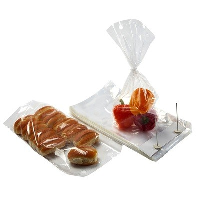 Wicketed Poly Bakery Bags with Bottom Gusset   7.25