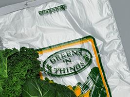 17 X 18 + 6 BG + 1 1/2 LP 0.6 mils High Density Polyethylene Wicketed Vented Greens Bag with Print