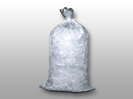 11 X 20 1.2 mils Plain Metallocene Ice Bag -- 8 lb.