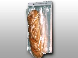 11 X 18 + 4 BG + 1 1/2 LP 0.8 mils Polypropylene Co-Extruded Bottom Gusset Bag on Wicket Dispenser