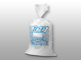 9 X 3 X 21 1.2 mils Printed Metallocene Ice Bag -- 10 lb.