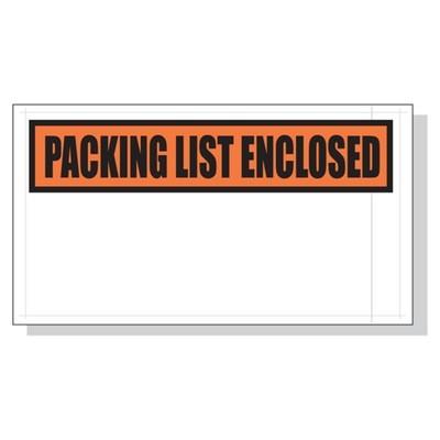 Printed Packing List Envelopes 5.5