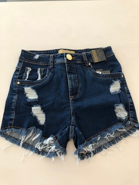 SHORT JEANS FEMININO DESTROYED
