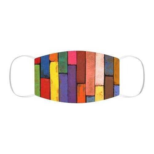 Rainbow Brick Style Snug-Fit Face Mask