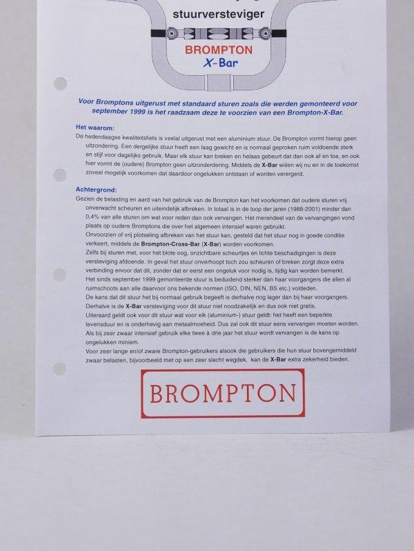 Brompton X-bar handlebar brace