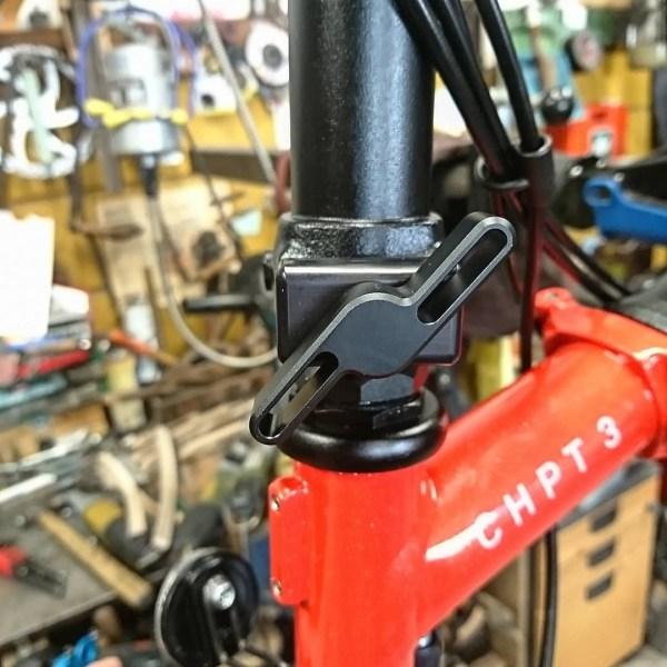 SpedDial 2nd gen. BLACK hinge clamps kit for Brompton