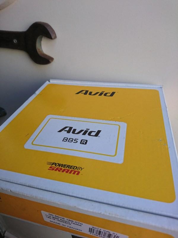 Avid BB5 mechanical disc brake caliper with 160 mm disc, silver