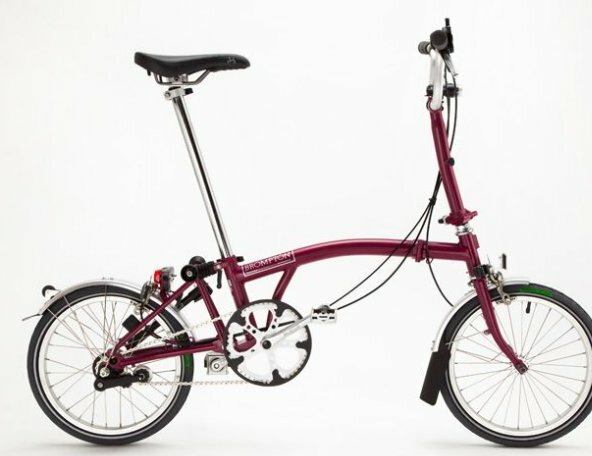 Brompton rear frame and front fork matt Claret (wine red)