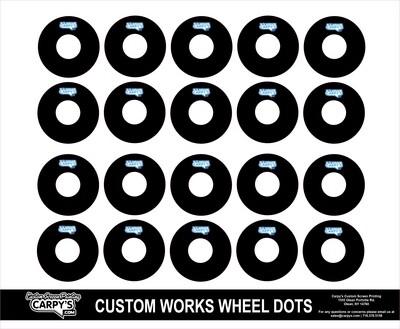 Customworks Foam Tire Wheel Dots (choose your color)