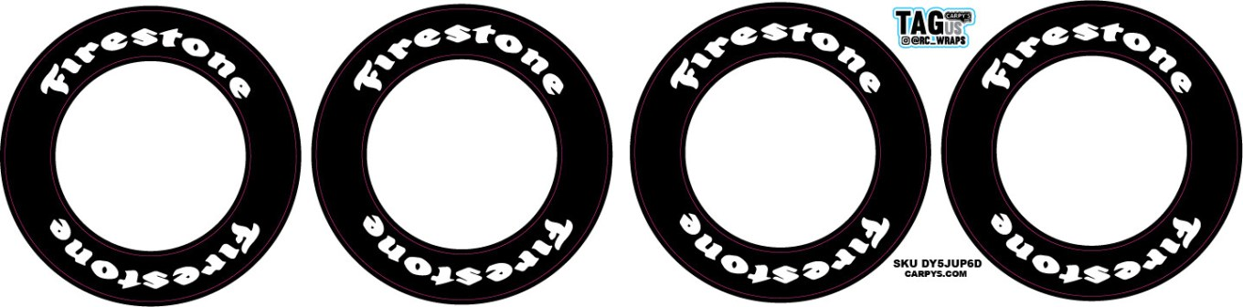 Firestone | CRC Rubber Tire Side Wall Decals