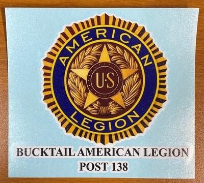 Bucktail American Legion Sticker